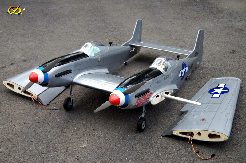 F 82 Twin Mustang 46 Size Ep Gp Vinh Quang Rc Models